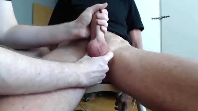 Me milking a big cock - post cum torture bdsm gayxxx